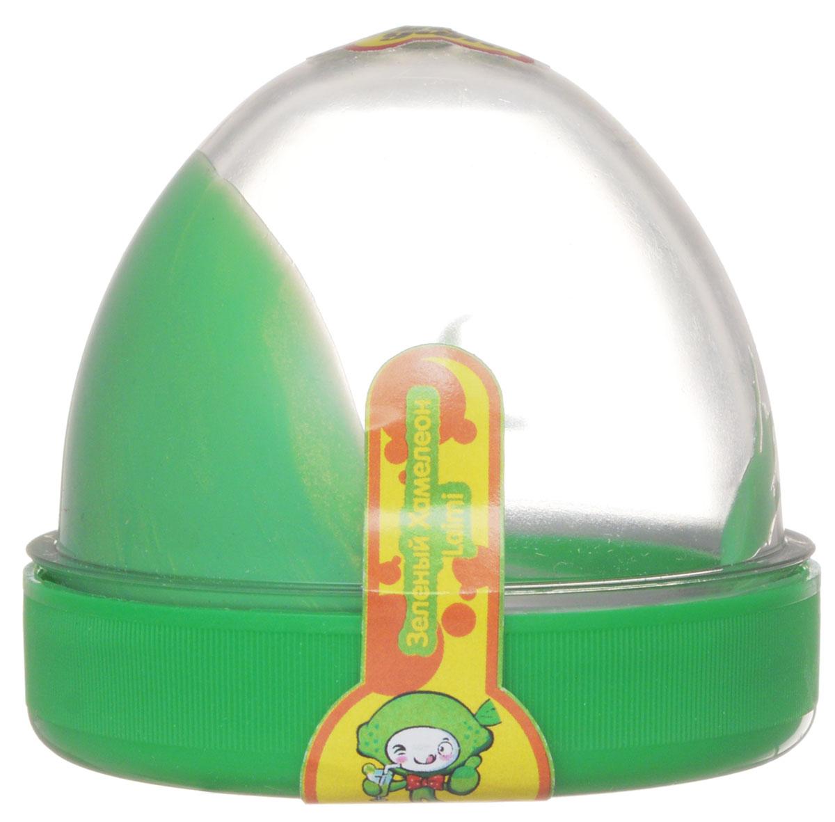 Жвачка для рук ТМ HandGum, цвет: зеленый хамелеон, с запахом лимона, 35 г10277Жвачка для рук Hand Gum цвета зеленый хамалеон с запахом лимона подарит вам позитив и хорошие эмоции. Она радует глаз и дарит нежные тактильные ощущения, способствуя хорошему настроению. Жвачка для рук изготовлена из упругого, пластичного и приятного на ощупь материала, ее можно растягивать, как резину, а если сильно дернуть, то можно порвать. Из нее отлично получаются скульптуры, которые живут считанные минуты, постепенно превращаясь в лужи. Прилепите ее на дверную ручку - и он капнет, скатайте шарик и ударьте об пол - он подпрыгнет. Кубик, кстати, тоже подпрыгнет, но совсем не туда, куда ожидается. Характеристики: Цвет: зеленый хамелеон. Вес: 35 г. Размер упаковки: 5,5 см х 6 см х 6 см.