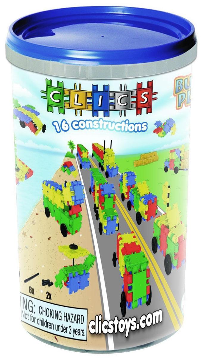 Clics Конструктор CK022CK022Конструктор Clics - отличный набор для всестороннего развития вашего ребенка. Особенность конструктора заключается в том, что он позволяет ребенку строить бесконечные конструкции и различные виды транспорта, руководствуясь своей фантазией. Элементы конструктора выполнены в ярких цветах. Все наборы Clics легко дополняют друг друга и помимо неимоверного количества игровых построек, позволяют собирать геометрические фигуры, выкладывать разноцветные орнаменты. Конструктор способствует творческому развитию, а также развитию логического мышления, мелкой моторики рук, стимулирует стремление к поиску решений задач. Конструктор содержит: 53 элемента, 8 колес, 8 осей, 2 фаркопа.