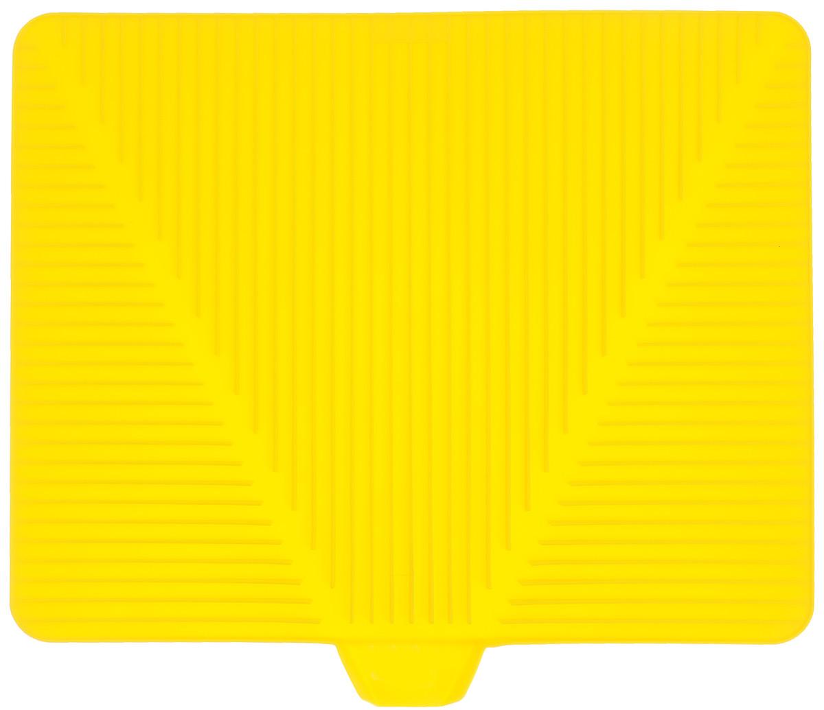 Сушилка для посуды Bodum Bistro, цвет: желтый, 38 х 30 смA11548-957-Y15Эластичная сушилка для посуды Bodum Bistro, выполненная из гибкого силикона, защитит кухонную столешницу от влаги. Благодаря ребристой поверхности, которая расположена под наклоном, вода стекает в одну сторону. Направьте боковой носик в раковину и вода будет стекать туда. Если рядом раковины нет, то используйте обратную сторону сушилки, которая будет просто собирать воду внутри. Ваша посуда высохнет быстрее, если после мойки вы поместите ее на легкую, современную сушилку. Сушилка для посуды Bodum Bistro станет незаменимым атрибутом на вашей кухне.
