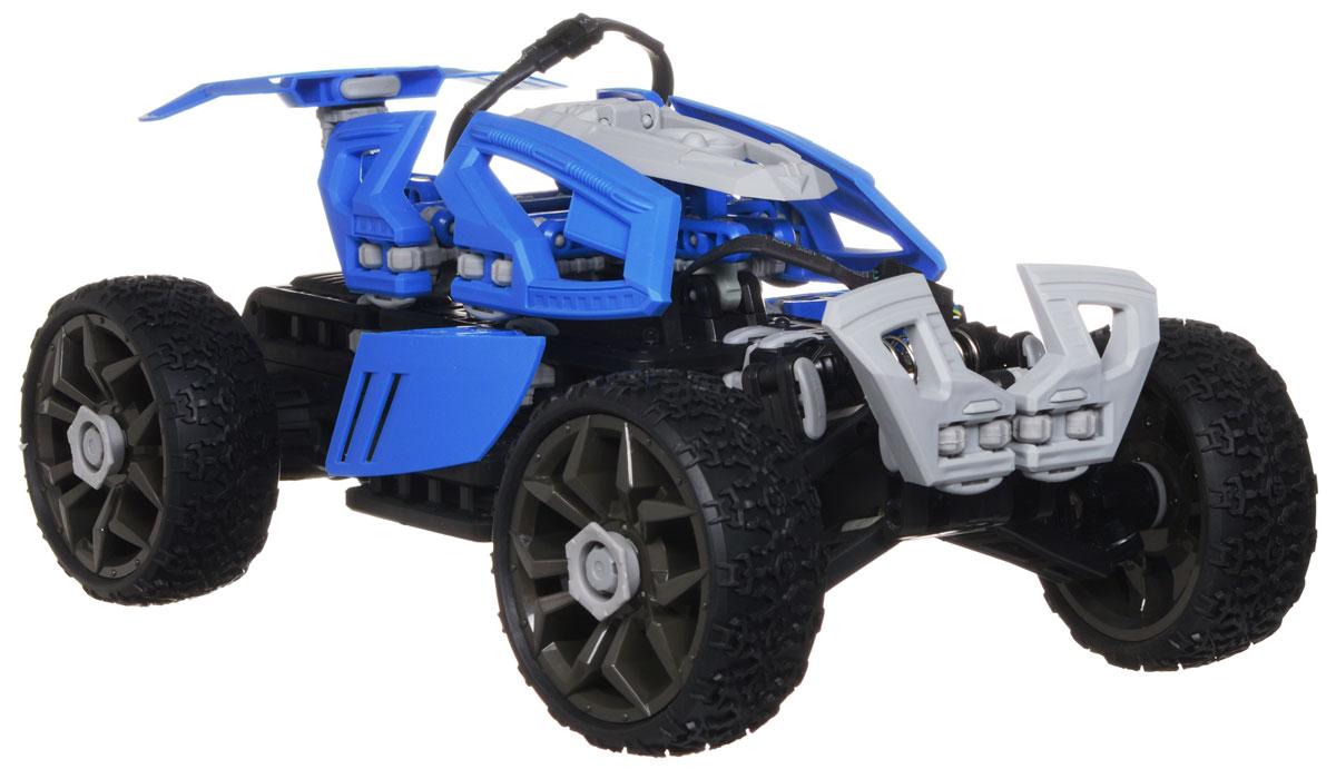 Balbi Машина-конструктор на радиоуправлении ФрирайдRCS-1002-BМашинка-багги Balbi Фрирайд на радиоуправлении станет отличным подарком любому мальчишке! Это современная игрушка-конструктор, которую можно собрать в нескольких вариантах, что будет интересно и полезно для ребенка. Модель выполнена из прочного безопасного пластика с элементами из металла. Благодаря выдающимся характеристикам ходовой части играть с машиной можно на улице, при этом она будет легко преодолевать значительные препятствия. Модель способна развить отличную скорость на прямых участках дороги, обладает отменной маневренностью и совершает невероятные трюки во время движения благодаря специально разработанной плавающей подвеске. Кроме того, на машинке установлены большие колеса, обеспечивающие высокую проходимость даже на бездорожье. Машинка движется вперед, назад, вправо, влево и останавливается. Машина работает от сменного аккумулятора (входит в комплект). Для работы пульта управления необходима 1 батарейка 9V типа Крона (входит в...