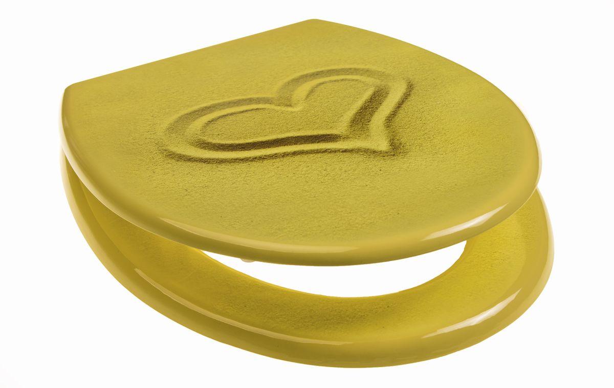Сидение для унитаза Vanstore Песок Sand800-17- с антибактериальным покрытием; -регулирууемое крепление от 11 до 21 см; -размер 42см x 37см x 7см