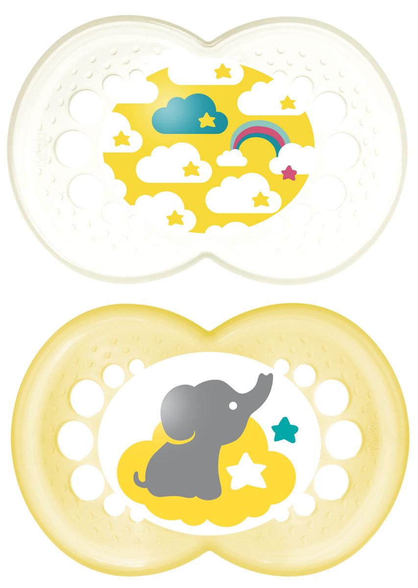 MAM Пустышка латексная Original от 6 до 16 месяцев цвет белый желтый 2 шт6036/10Латексная пустышка MAM Original предназначена для детей от 6 до 16 месяцев. Размер соски разработан в соответствии с возрастом ребенка. Ортодонтическая форма соски способствует естественному развитию неба и челюсти. Анатомическая форма нагубника повторяет форму рта и обеспечивает удобство при движении нижней челюсти. Дополнительную безопасность обеспечивают вентиляционные отверстия. Латекс - это мягкий, стойкий к прокусыванию и натуральный материал на основе каучука. Малышам нравится его вкус. Все материалы абсолютно безопасны для здоровья ребенка. В наборе 2 пустышки в практичном пластиковом боксе для стерилизации и транспортировки. Латексная пустышка MAM Original - это модный аксессуар, сочетающий качество, функциональность и положительные эмоции. Не содержит бисфенол А.