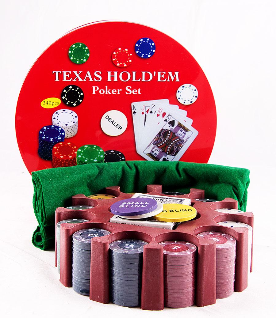 Подарочный набор Русские Подарки Покер, размер: 15*15*10 см. 4244842448