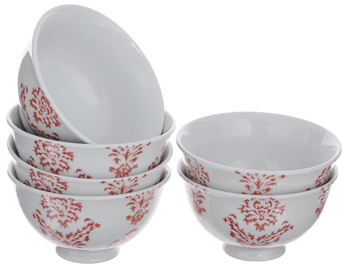 Набор салатников Loraine, 275 мл, 6 шт. 49584958Набор Loraine состоит из шести салатников, изготовленных из высококачественной керамики. Изделия сочетают в себе изысканный дизайн с максимальной функциональностью. Они идеально подходят для подачи закусок, варенья, солений. Такие салатники прекрасно впишутся в интерьер вашей кухни и станут достойным дополнением к кухонному инвентарю. Диаметр салатника (по верхнему краю): 11,5 см. Высота салатника: 6,5 см. Объем салатника: 275 мл.