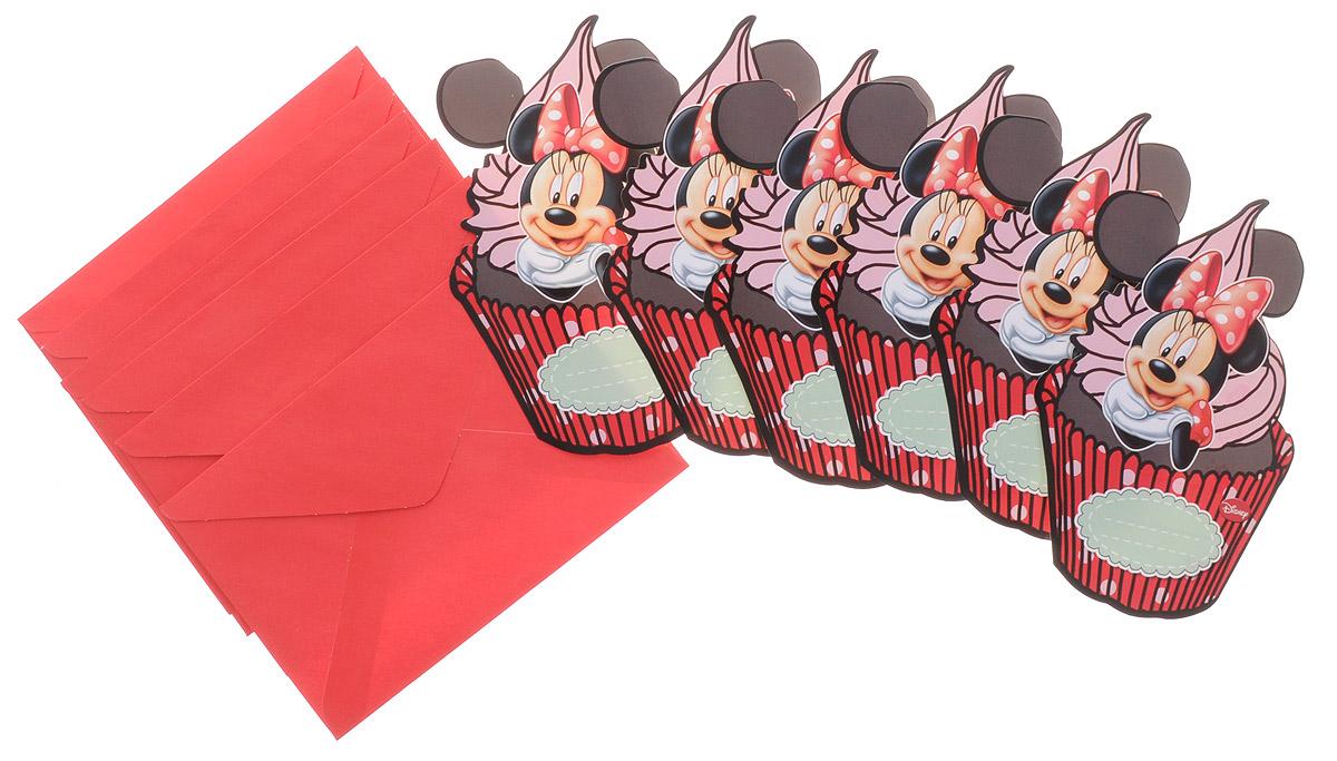 Procos Пригласительные открытки в конвертах Кафе Минни 6 шт82676Устрой вечеринку и позови на нее всех своих подружек с помощью стильных красочных приглашений Procos Кафе Минни. На каждом приглашении ты найдешь изображение подружки Микки Мауса - Минни, на фоне большого сочного пирожного! Каждой девочке будет приятно получить такое красиво оформленное приглашение на праздник, будь то день рождения, именины или любое другое торжество. Задай хорошее настроение своей вечеринке с самого начала с помощью пригласительных в конверте Кафе Минни! В комплекте 6 приглашений и 6 конвертов.
