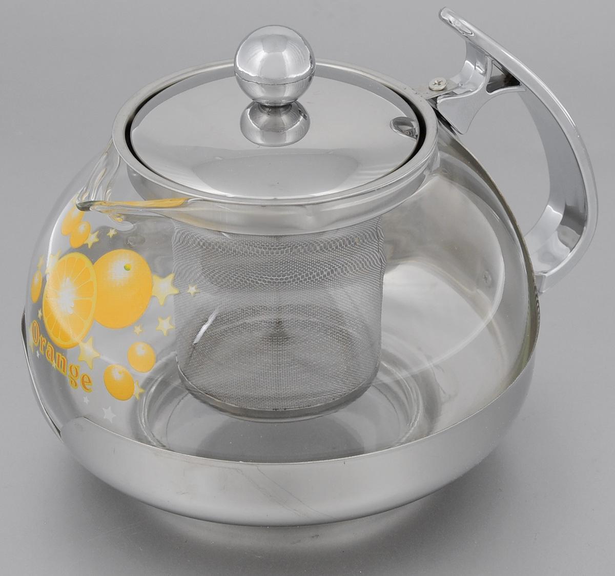 Чайник заварочный Mayer & Boch Orange, с фильтром, 700 мл2023Заварочный чайник Mayer & Boch Orange, выполненный из жаропрочного стекла и нержавеющей стали, практичный и простой в использовании. Он займет достойное место на вашей кухне и позволит вам заварить свежий, ароматный чай. Чайник оснащен сетчатым фильтром, который задерживает чаинки и предотвращает их попадание в чашку, а прозрачные стенки дадут возможность наблюдать за насыщением напитка. Заварочный чайник Mayer & Boch Orange послужит хорошим подарком для друзей и близких. Диаметр чайника (по верхнему краю): 7,5 см. Высота чайника (без учета крышки): 9,5 см. Высота фильтра: 6,5 см. Объем: 700 мл.