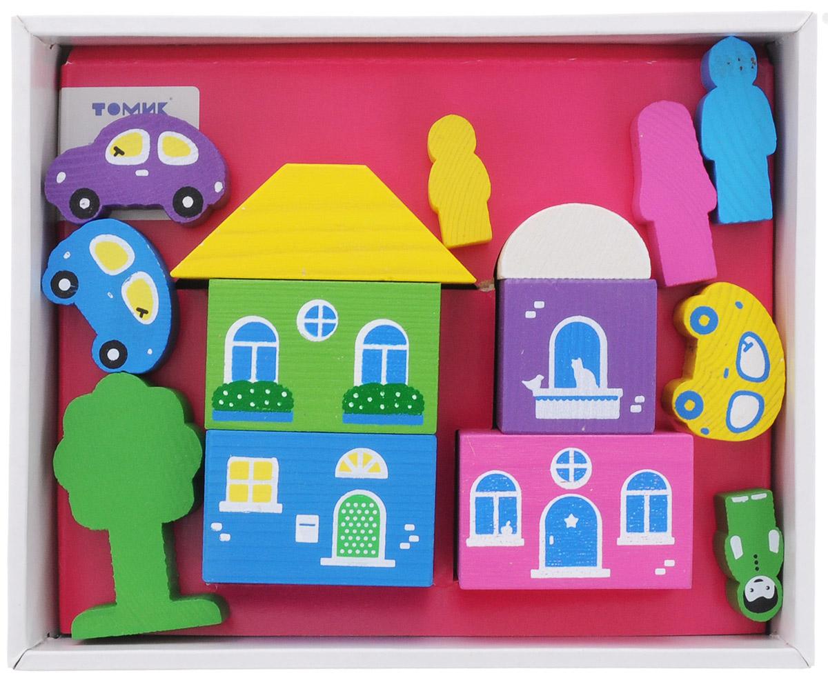 Томик Конструктор Цветной городок цвет розовый8688-5Конструктор Томик Цветной городок - это яркий деревянный конструктор, с помощью которого ребенок сможет построить маленький городок с деревьями, машинами и фигурками человечков. Дети часто используют построенные сооружения в своих сюжетных играх, поэтому в наборах конструкторов есть фигурки людей, машин и деревьев. Малыш сможет не только построить целый город, но и как настоящий волшебник наполнить его жизнью. А придумывая сюжеты игр, ребенок развивает воображение, связную речь, овладевает навыками ролевого поведения.
