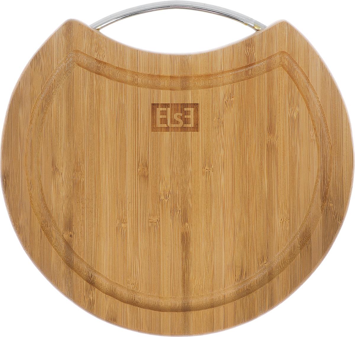 Доска разделочная Else Radich, с ручкой, диаметр 25 см62115RДоска разделочная Else Radich изготовлена из бамбука. Доска снабжена металлической ручкой и желобком по краю для стока жидкости. Функциональная и простая в использовании, разделочная доска Else Radich прекрасно впишется в интерьер любой кухни и прослужит вам долгие годы. Диаметр доски: 25 см. Толщина доски: 1,8 см. Для мытья использовать неабразивные моющие средства.