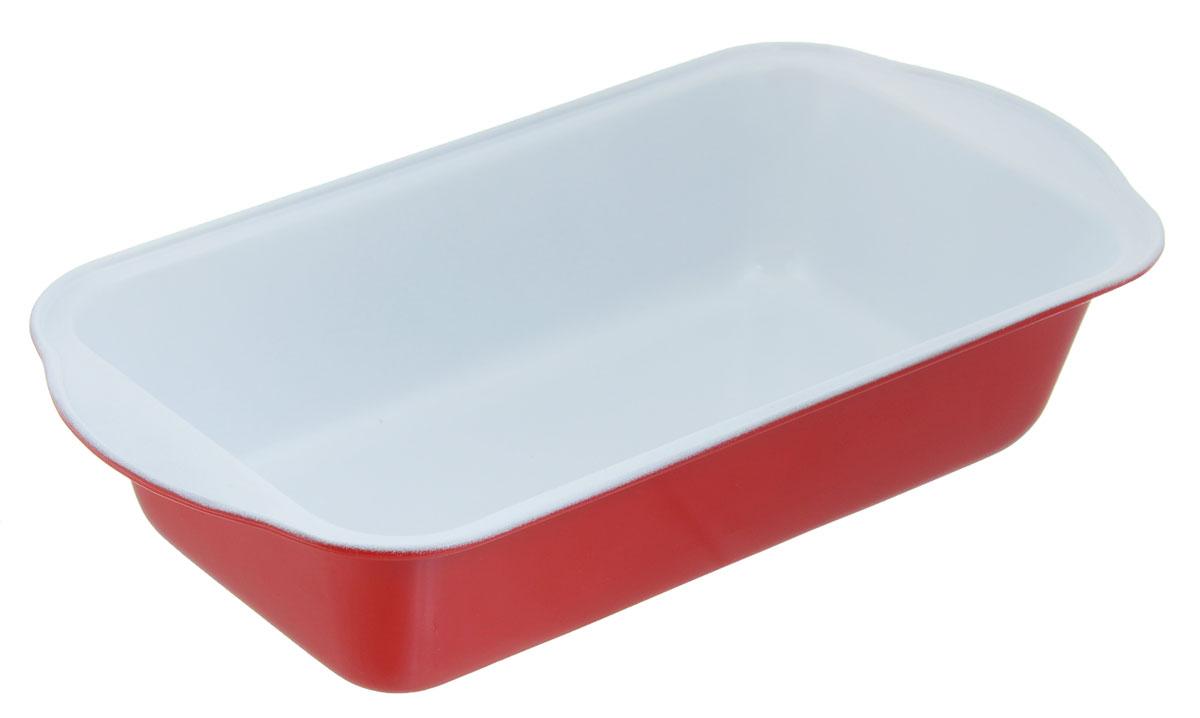 Форма для выпечки хлеба Miolla, прямоугольная, с керамическим покрытием, цвет: белый, красный, 29,5 х 15 х 6 см1001055UФорма для выпечки хлеба Miolla выполнена из углеродистой стали с керамическим покрытием, которое не допустит пригорания хлеба, а также обеспечит легкую очистку после использования. Изделие подходит для использования в духовом шкафу. Не использовать в СВЧ-печи и на открытом огне. Можно мыть в посудомоечной машине. Общий размер формы: 29,5 см х 15 см. Внутренний размер формы: 24 см х 13 см. Высота стенок формы: 6 см.