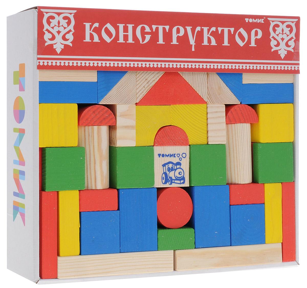Томик Конструктор Цветной6678-65Конструктор Томик Цветной состоит из 65 цветных и неокрашенных деталей разной формы. Все элементы изготовлены из экологически чистого дерева, краски не токсичные и безопасны для ребенка. С таким конструктором ребенок с удовольствием построит башни, красивые арки, мостики, а если дополнить набор другими конструкторами, то можно сотворить великолепный замок или крепость. Такая игра развивает пространственное мышление, фантазию, умение использовать форму предмета, моторику, координацию, приучает ребенка к усидчивости.