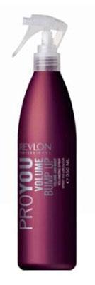 Revlon Professional Pro You Спрей для объема волос Volume Bump Up 350 мл7204396000Спрей для увеличения объема волос от Revlon незаменим для придания объема и гибкости тонким волосам. Укладка волос становится более легкой и приятной, а сама прическа приобретает неожиданную пышность, стойкий блеск и надежную фиксацию. Спрей обладает и защитными функциями, предохраняя волосы от повреждающих факторов и термического воздействия. Со спреем Pro You Volume Bump Up Ваши волосы под надежной защитой!