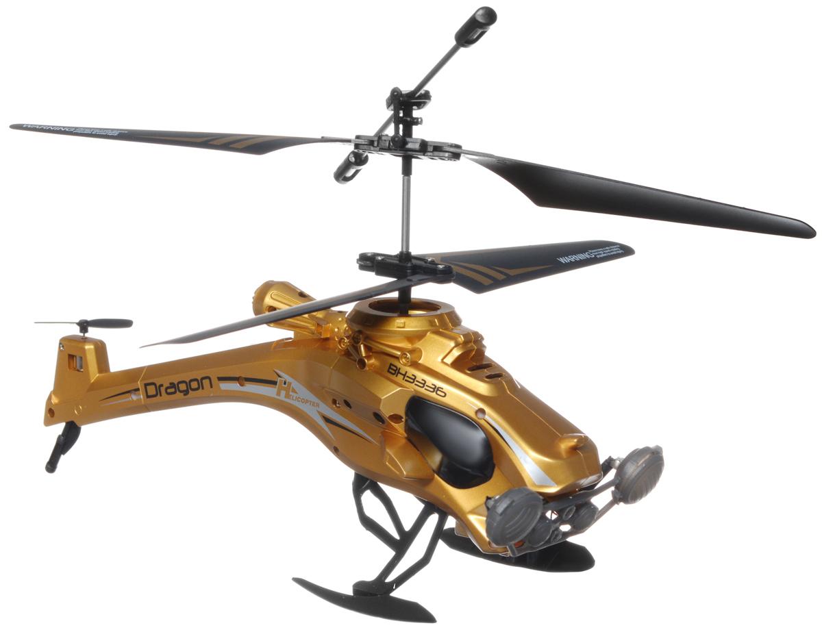 Властелин небес Вертолет на радиоуправлении ДраконBH 3336Вертолет Властелин небес Дракон c инфракрасным управлением и встроенным гироскопом отлично подходит для полетов в закрытых помещениях и на улице в безветренную погоду. Гироскоп предназначен для курсовой стабилизации полета. Вертолет небольшой и маневренный, он легко обходит препятствия, послушно следуя командам c пульта управления. Игрушка может летать вперед-назад, вверх-вниз, вращаться и зависать в воздухе. Вертолет оснащен проблесковыми огнями для полета в темноте. Имеется возможность подзарядки вертолета от пульта и USB-шнура. Полностью заряженный вертолет летает 5-7 минут. Игрушка развивает многочисленные способности ребенка - мелкую моторику, пространственное мышление, реакцию и логику. Вертолет работает от встроенного аккумулятора (Li-Po 3,7V), который можно заряжать от USB-шнура (входит в комплект). Для работы пульта управления необходимо купить 6 батареек напряжением 1,5V типа АА (в комплект не входят). Материал: металл, полимерные материалы,...