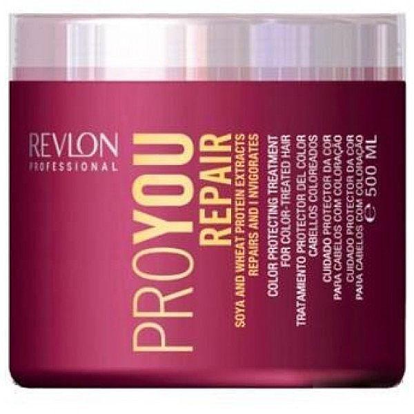 Revlon Professional Pro You Маска восстанавливающая Repair Mask 500 мл7203157000Восстанавливающая маска для поврежденных волос Pro You Repair содержит пшеничный белок и экстракт сои. Предназначена для жестких, ослабленных и поврежденных волос. Сложный состав маски осуществляет комплексное воздействие на волосы и кожный покров головы, позволяет восстанавливать поврежденный липидный слой волосяного волокна. Ваши волосы снова станут сияющими и здоровыми.