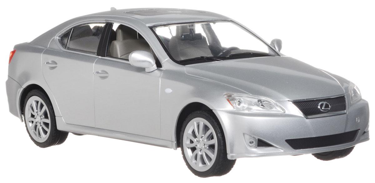 Rastar Радиоуправляемая модель Lexus IS 350 цвет серебристый масштаб 1:1430800Радиоуправляемая модель Rastar Lexus IS 350, выполненная из прочного пластика с металлическими элементами, является точной уменьшенной копией настоящего автомобиля в масштабе 1:14. Модель привлечет внимание не только ребенка, но и взрослого. Модель при помощи пульта управления движется вперед, дает задний ход, поворачивает влево и вправо, останавливается. Машина обладает высокой стабильностью движения, что позволяет полностью контролировать его процесс, управляя уверенно и без суеты. Модель оснащена световыми эффектами. Такая модель автомобиля станет отличным подарком не только автолюбителю, но и человеку, ценящему оригинальность и изысканность, а качество исполнения представит такой подарок в самом лучшем свете. Машина работает от 5 батареек типа АА напряжением 1,5V, пульт работает от батарейки 9V типа Крона (не входят в комплект).