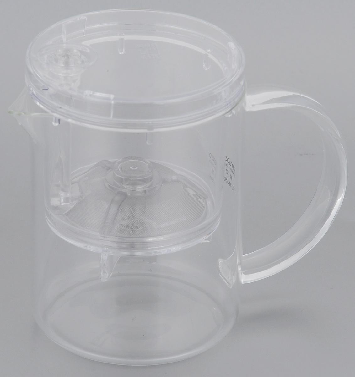Чайник заварочный Samadoyo, 350 мл02010, 02012Заварочный чайник Samadoyo - простой и в тоже время профессиональный инструмент для того, чтобы заварить ваш любимый чай. Уникальный механизм слива чайного настоя позволяет вам получить напиток любой степени крепости. Чайник можно не только комфортно использовать на работе или в офисе, но и взять с собой в путешествие, чтобы ваш любимый чай был всегда с вами! Чайник выполнен из высококачественного боросиликатного стекла и выдерживает температуру до 180°С, что позволяет не беспокоиться относительно слишком горячего кипятка. Заварочная колба выполнена из специального пищевого пластика, имеет металлический фильтр, предотвращающий попадание чаинок в настой, а специальный запатентованный клапан сливает все без остатка в чайник. Края крышки колбы имеют специальные бортики. Это очень удобно в тех случаях, когда колбу, после заваривания, нужно поставить на стол и при этом не пролить чай. Колбу по необходимости можно купить отдельно. Высота...