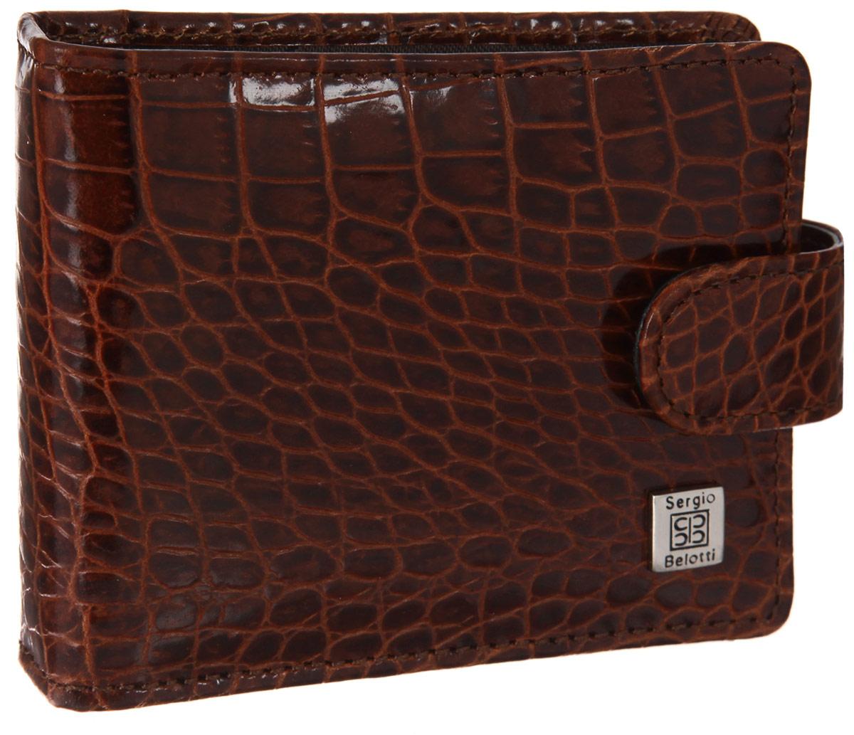 Визитница горизонтальная Sergio Belotti, цвет: коричневый. 2392 2392 modena cognac