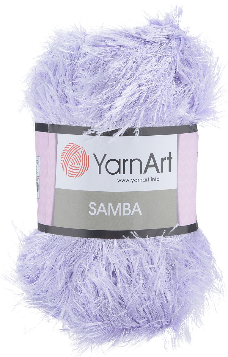 Пряжа для вязания YarnArt Samba, цвет: светло-сиреневый (06), 150 м, 100 г, 5 шт372009_06Пряжа для вязания YarnArt Samba, изготовленная из 100% полиэстера, представляет собой яркий пример отделочной нити, с помощью которой можно придать оригинальность и красоту каждому изделию. Из такой пряжи великолепно получаются коврики и пледы, чехлы для мебели, шарфы, палантины, болеро, жилеты и многие другие изделия. Подходит для вязания на спицах и крючках 5,5 мм. Состав: 100% полиэстер. Комплектация: 5 шт.