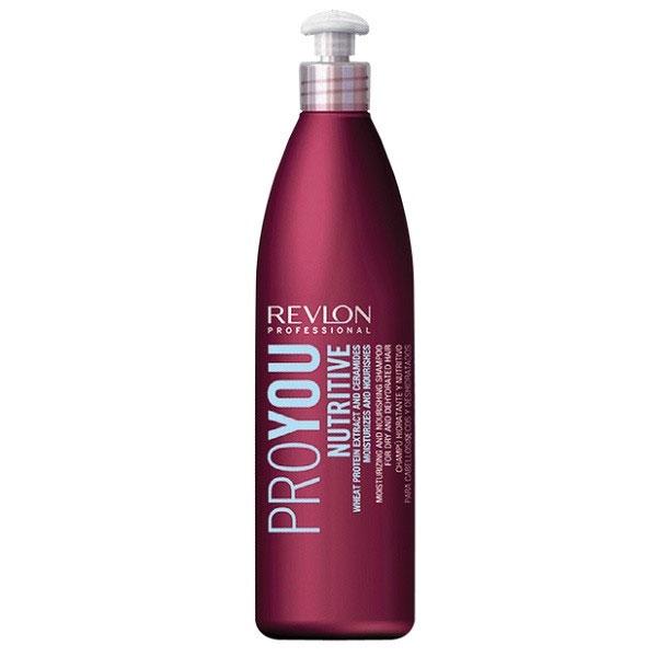 Revlon Professional Pro You Шампунь для волос увлажняющий и питательный Nutritive Shampoo 350 мл7203141000В состав интенсивно питающего и увлажняющего шампуня Revlon Pro You Nutritive входят экстракты пшеничных ростков, обеспечивающие Вашим волосам витаминный баланс и полноценное питание. Помимо всего прочего, средство содержит керамиды – активные вещества, мгновенно укрепляющие и восстанавливающие структуру поврежденных волос. Активные компоненты шампуня покрывают волосы прозрачным защитным слоем, препятствующим возникновению сухости. Это приводит к нормализации водно-жирового баланса внутри кожного покрова головы, что способствует прекрасному внешнему виду и здоровью Ваших волос!