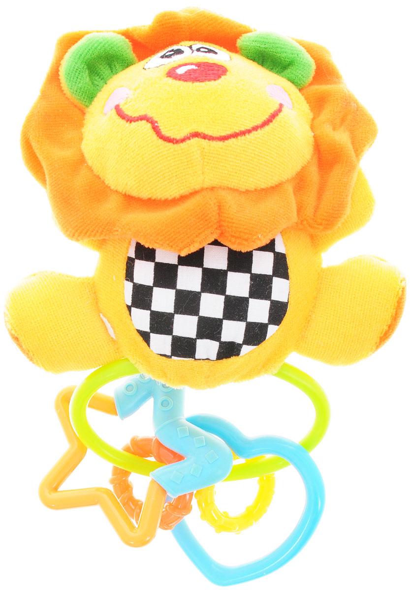 Жирафики Мягкая развивающая игрушка Лев93523_левМягкая развивающая игрушка Лев изготовлена из ярких тканей разных цветов и разной фактуры. Как же весело и интересно ее рассматривать! Но держать ее в маленьких ручках еще интереснее, ведь она таит в себе столько приятных сюрпризов и столько удивительных открытий! При сжатии лев издает забавный писк. В нижней части игрушки расположены элементы с пластиковыми разноцветными колечками. Игрушка способствует развитию цветовосприятия, звуковосприятия и мелкой моторики рук.