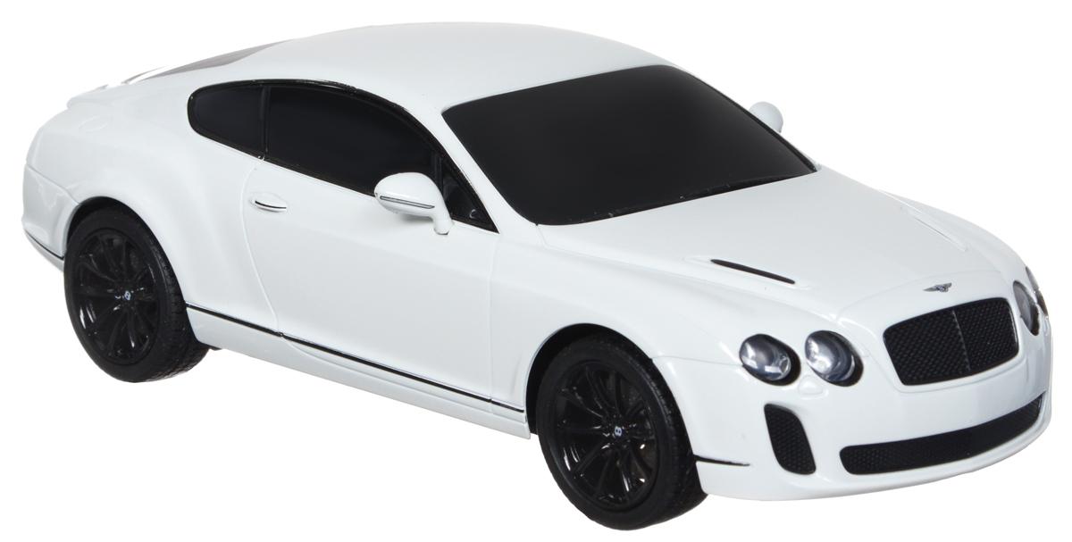 Welly Радиоуправляемая модель Bentley Continental Supersports масштаб 1:2484003Радиоуправляемая модель Welly Bentley Continental Supersports обязательно привлечет внимание взрослого и ребенка и понравится любому, кто увлекается автомобилями. Маневренная и реалистичная уменьшенная копия Bentley Continental Supersports выполнена в точной детализации с настоящим автомобилем в масштабе 1/24. Управление машинкой происходит с помощью пульта. Автомобиль двигается вперед и назад, поворачивает направо и налево. Радиус действия пульта - 8 метров. Колеса игрушки прорезинены и обеспечивают плавный ход, машинка не портит напольное покрытие. Радиоуправляемые игрушки способствуют развитию координации движений, моторики и ловкости. Ваш ребенок часами будет играть с моделью, придумывая различные истории и устраивая соревнования. Порадуйте его таким замечательным подарком! Питание: для работы машинки - 3 батарейки напряжением 1,5V типа АА; для работы пульта - 2 батарейки напряжением 1,5V типа АА (не входят в комплект).