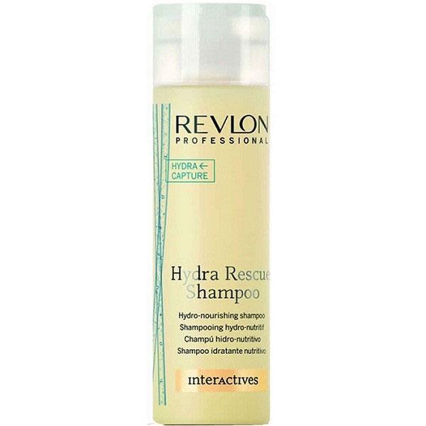 Revlon Professional Interactives Шампунь для волос увлажняющий и питающий Hydra Rescue 250 мл7203721000Шампунь для увлажнения и питания волос от Revlon обладает регенерирующим действием и восстанавливает поврежденную неправильным уходом фибру волос. В состав шампуня входят экстракты ростков пшеницы и керамидные соединения, питающие и увлажняющие фибру волос, восстанавливающие гидролипидный слой волосяных волокон и препятствующие их дегидрации. Средство значительно облегчает процедуру расчесывания и сокращает общее время ухода за волосами. Витамин Е, содержащийся в пшеничных экстрактах, способствует процессу клеточного омоложения и энергетически насыщает волосяные луковицы. Керамидные соединения структурно укрепляют волосяной покров, способствуют разглаживанию и устраняют спутанность волос. При использовании шампуня Hydra Rescue Shampoo волосы приобретают матовый отблеск, что говорит об их прекрасном состоянии и нерушимом здоровье.