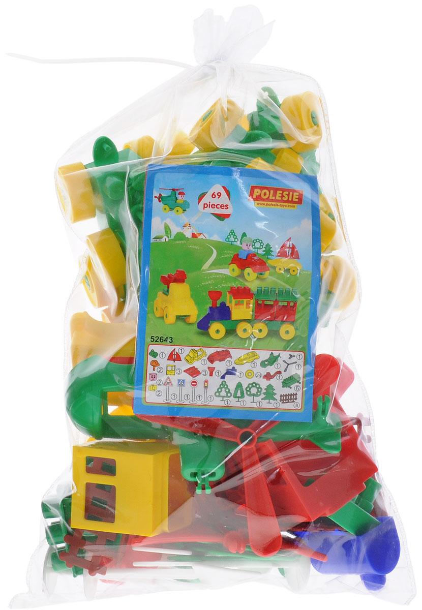 Полесье Конструктор Юный путешественник52643Конструктор - необходимая игрушка в любой детской комнате, которая надолго займет внимание вашего ребенка. В комплект входят 69 пластиковых элемента, с помощью которых ребенок сможет складывать невообразимые постройки и различные виды транспорта. Все детали конструктора Полесье Юный путешественник имеют большие формы и безопасны для здоровья малыша. Детали легко и прочно соединяются между собой. Игра с конструктором развивает образное и пространственное мышление, стимулирует фантазию и творческое воображение, организаторские навыки и речь. Во время игры ребенок познакомится с основными цветами, научится различать фигуры, форму и цвет, сможет развить мелкую моторику рук, логику и творческое мышление.