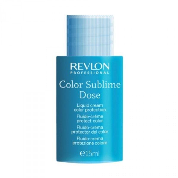 Revlon Professional Interactives Средство для защиты цвета окрашенных волос Color Sublime Dose 30*15 мл7204350000Крем для защиты цвета Color Sublime Dose предназначен для восстановления поврежденного волосяного волокна. Структурно укрепляет волосы и запечатывает кутикулы, фиксирует и усиливает цвет Ваших волос. Способствует клеточному омоложению и защищает волосы от целого ряда неблагоприятных факторов внешней среды – температурного и химического воздействия, механических повреждений и вредного солнечного излучения. В состав крема входит множество полезных веществ и компонентов: экстрагированное льняное семя, восстанавливающее и питающее волосяные кутикулы, обладающее эффектом кондиционирования волос; фукус пузырчатый; хондрукус курчавый – красная водоросль, содержащая в своем составе множество минералов и олигоэлементов, поглощающих из морской воды полезные элементы и вещества, которые связываясь с протеинами волос, увлажняют и защищают их; гидролизованный актин, представляющий из себя комплекс веществ, стимулирующих и питающих волосяные луковицы на стадии анагена. Обладает кондиционирующим и...