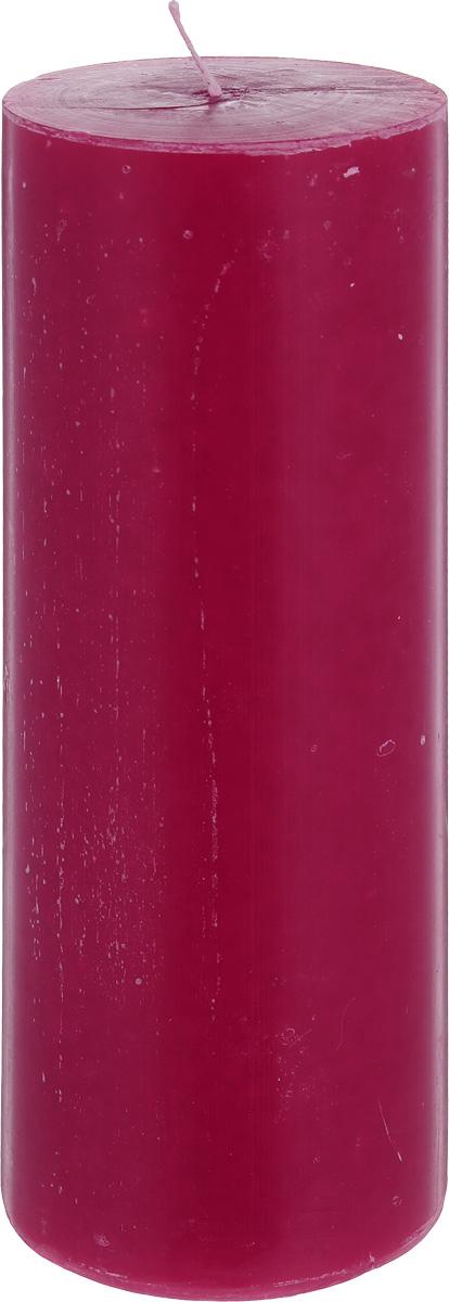 Свеча декоративная Proffi Home Столбик, цвет: бордовый, высота 23 смPH3426Декоративная свеча Proffi Home Столбик выполнена из парафина и стеарина в классическом стиле. Изделие порадует вас ярким дизайном. Такую свечу можно поставить в любое место, и она станет ярким украшением интерьера. Свеча Proffi Home Столбик создаст незабываемую атмосферу, будь то торжество, романтический вечер или будничный день.