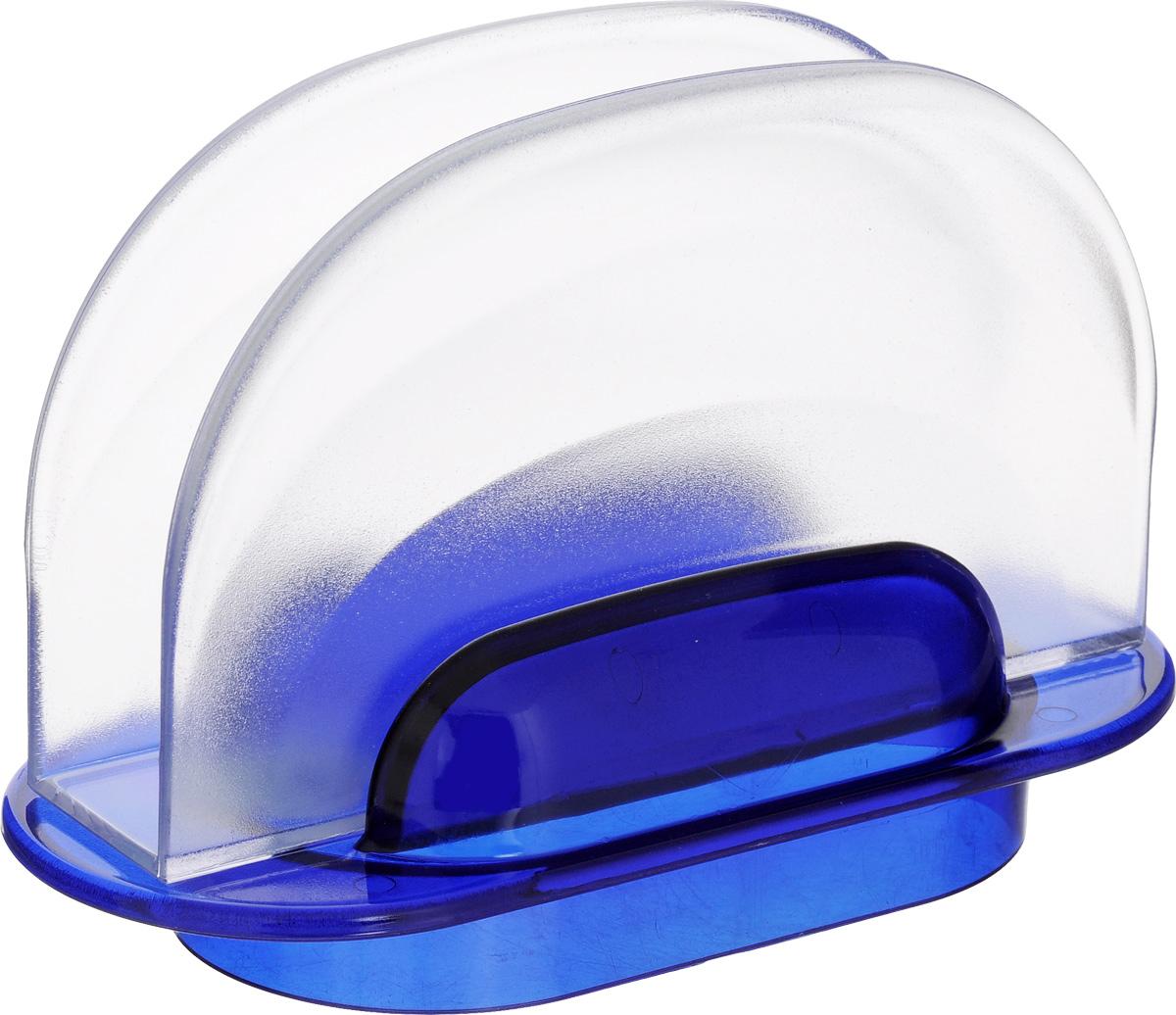 Салфетница Berossi Санти, цвет: синий, прозрачный, 16,5 х 7,5 х 11 смИК01610000Салфетница Berossi Санти изготовлена из прочного пластика. Полукруглая салфетница прекрасно подойдет для вашей кухни и великолепно украсит стол. Яркий дизайн и красочность оформления салфетницы придутся по вкусу и ценителям классики, и тем, кто предпочитает утонченность и изысканность.