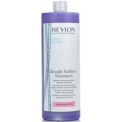 Revlon Professional Шампунь, усиливающий цвет светлых волос Interactives Blonde Sublime 1250 мл