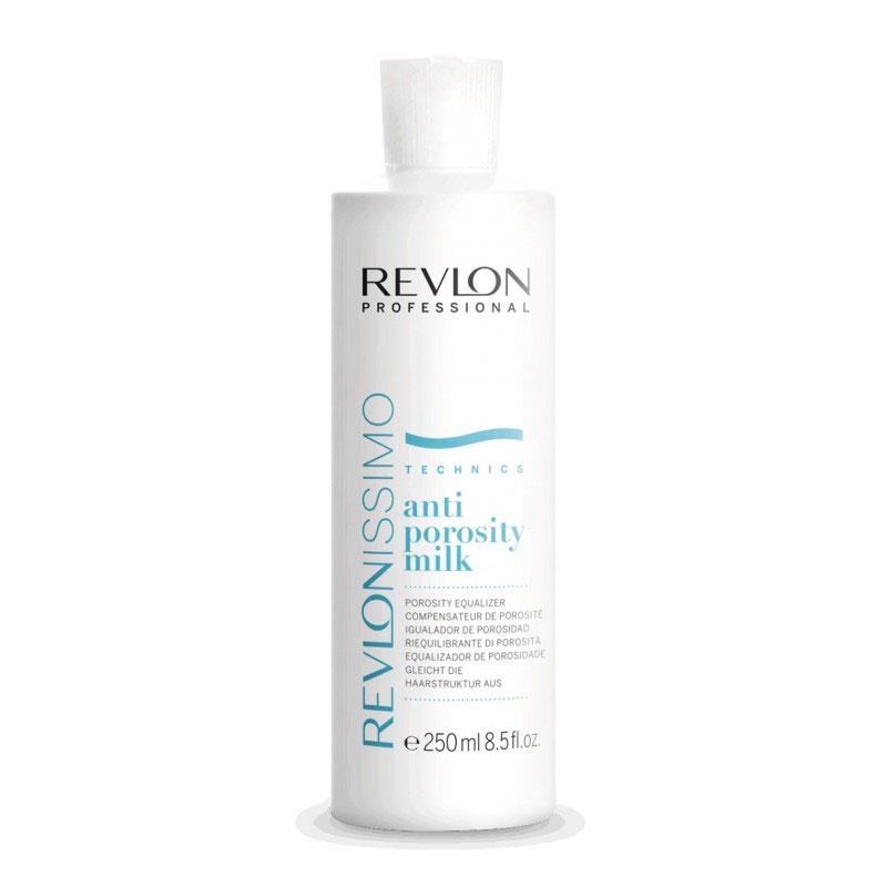Revlon Professional Молочко против пористости Anti-Porosity 250 мл7220159000Молочко против пористости от Ревлон (Anti Porosity Milk) используют до и после всех видов окрашивания, химической завивки и выпрямления. Благодаря этому средству достигается однородный оттенок. Молочко против пористости восстанавливает даже сильно поврежденные волосы. Высокая концентрация активных компонентов (молочная и гуаровая кислота, олеил бетаин) обеспечивает увлажнение и питание волос.