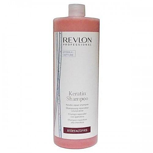Revlon Inter Шампунь восстанавливающий с Кератином Actives Keratin 1250 мл7208194000Шампунь обагощен Кератином, обладает восстанавливающими и питательными свойствами. Система Hydra Capture увлажняет волосы изнутри и укрепляет их структуру. Обеспечивает легкость, мягкость и блеск.
