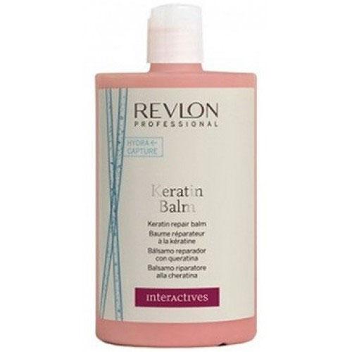 Revlon InterActives Бальзам восстанавливающий с Кератином Keratin Balm 750 мл7208193000Кондиционер обогащен кератином, обладающим восстанавливающими, питательными и укрепляющими свойствами. Система Hydra Capture увлажняет волос изнутри и укрепляет его структуру, обеспечивает легкость, мягкость, блеск волос.