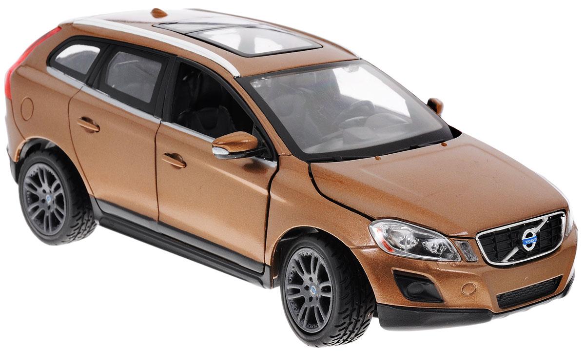 Rastar Модель автомобиля Volvo XC60 цвет коричневый41600Коллекционная модель Rastar Volvo XC60 привлечет внимание не только ребенка, но и взрослого коллекционера. Машинка является точной уменьшенной копией настоящего автомобиля, воспроизведенной в масштабе 1/24. Модель выполнена из металла с использованием пластика и оснащена резиновыми колесами, обеспечивающими хорошее сцепление с поверхностью пола. Внутренний интерьер воссоздан с необыкновенной точностью. Колеса и руль модели вращаются, капот и передние дверцы открываются. Коллекционная модель Rastar Volvo XC60 станет отличным подарком и украшением любой коллекции!