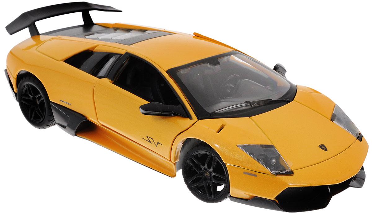 Rastar Коллекционная модель Lamborghini Murcielago LP670-4 SV39300Коллекционная модель Rastar Lamborghini Murcielago LP670-4 SV привлечет внимание не только ребенка, но и взрослого коллекционера. Машинка является точной уменьшенной копией настоящего автомобиля, воспроизведенной в масштабе 1/24. Модель выполнена из металла с использованием пластика и оснащена резиновыми колесами, обеспечивающими хорошее сцепление с поверхностью пола. Внутренний интерьер воссоздан с необыкновенной точностью. Колеса и руль модели вращаются, багажник и дверцы открываются. Коллекционная модель Rastar Lamborghini Murcielago LP670-4 SV станет отличным подарком и украшением любой коллекции!