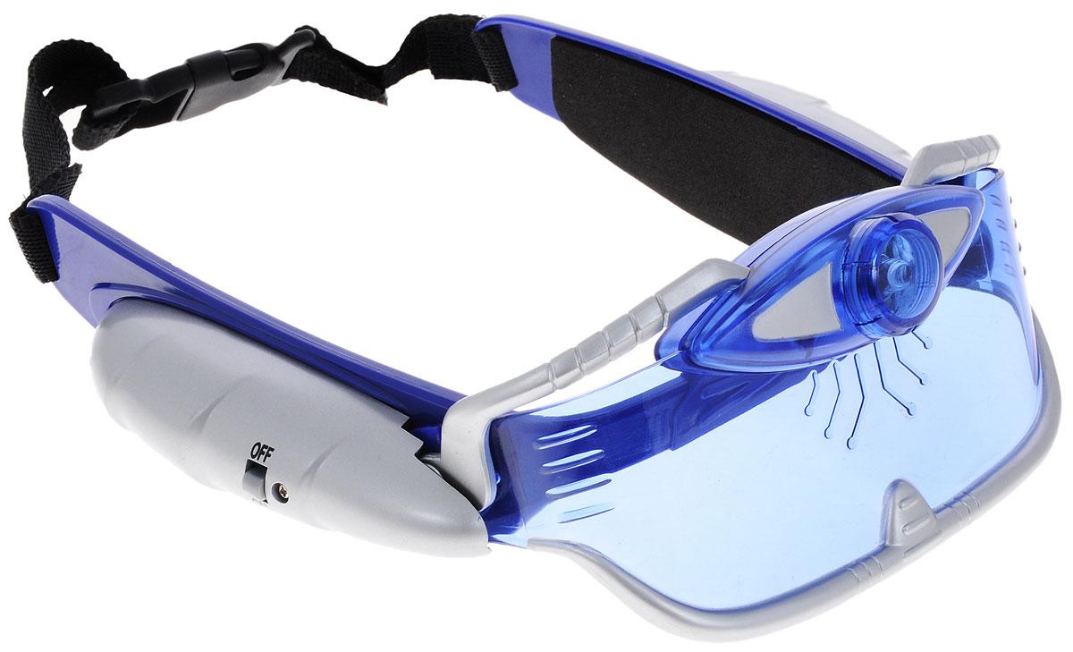 ABtoys Очки ночного видения Master Spy9989Очки ночного видения ABtoys Master Spy непременно понравятся вашему ребенку. Прибор позволяет видеть в темноте на расстоянии до 7,6 метров. Система крепления устроена таким образом, что очки могут находиться в двух положениях: на лбу или на глазах. Головной ремень регулируется по ширине. Система подсветки может автоматически включаться и выключаться при изменении положения очков. Предусмотрен также ручной режим включения и выключения. Для работы прибора необходимо докупить 2 батарейки напряжением 1,5V типа ААА (в комплект не входят).