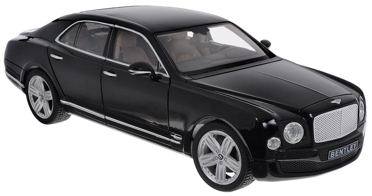 Rastar Коллекционная модель Bently Mulsanne43800Коллекционная модель Rastar Bently Mulsanne привлечет внимание не только ребенка, но и взрослого коллекционера. Машинка является точной уменьшенной копией настоящего автомобиля, воспроизведенной в масштабе 1/18. Модель выполнена из металла с использованием пластика и оснащена резиновыми колесами, обеспечивающими хорошее сцепление с поверхностью пола. Внутренний интерьер воссоздан с необыкновенной точностью. Колеса и руль модели вращаются, капот, багажник и дверцы открываются. Коллекционная модель Rastar Bently Mulsanne станет отличным подарком и украшением любой коллекции!