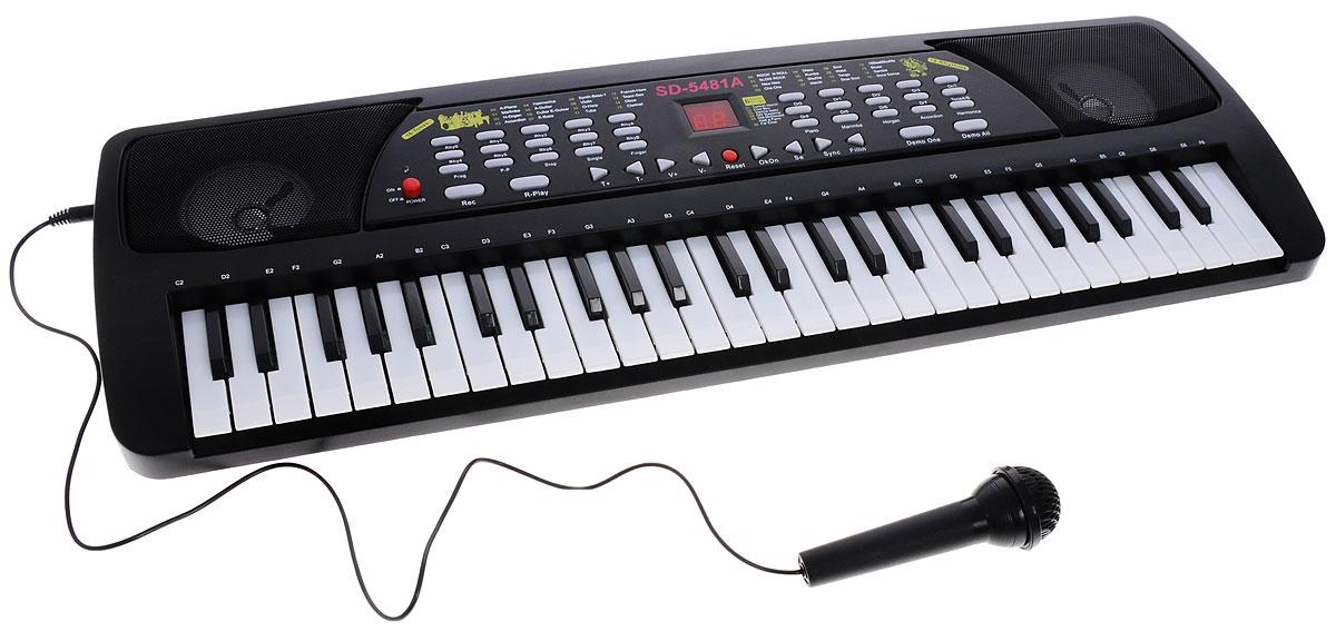ABtoys Синтезатор DoReMi 54 клавишиD-00026(5481)Синтезатор ABtoys DoReMi непременно привлечет внимание малыша и доставит ему много удовольствия от часов, посвященных игре с ним. Синтезатор имеет 54 электронные клавиши и множество кнопок, позволяющих добавлять различные звуковые эффекты при составлении мелодий, менять темп и ритм музыки. При пользовании синтезатором доступны: 15 инструментов, 16 тональностей и 16 ритмов, 8 ударных режимов, 6 демо-мелодий, программирование ритма, запись и воспроизведение, вибрато, сустейн, эхо-эффект, взятие аккорда одним или несколькими пальцами, синхронизация клавиш для аккорда, контроль громкости и темпа. На синтезаторе можно составить собственные мелодии, записать их и прослушать с помощью двух встроенных стерео динамиков, либо подключив наушники. В комплект с синтезатором входит микрофон, сетевой адаптер для подключения к электрической сети и инструкция на русском языке. С помощью этого синтезатора ребенок сможет развить свои музыкальные способности и дать возможность ...