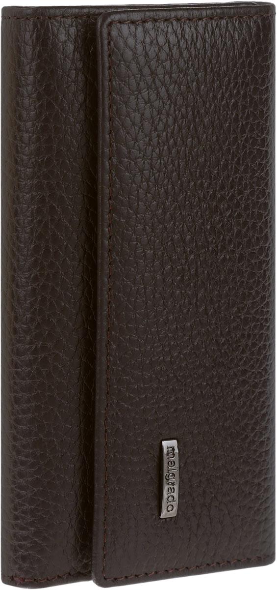 Ключница мужская Malgrado, цвет: темно-коричневый. 47006-5002D