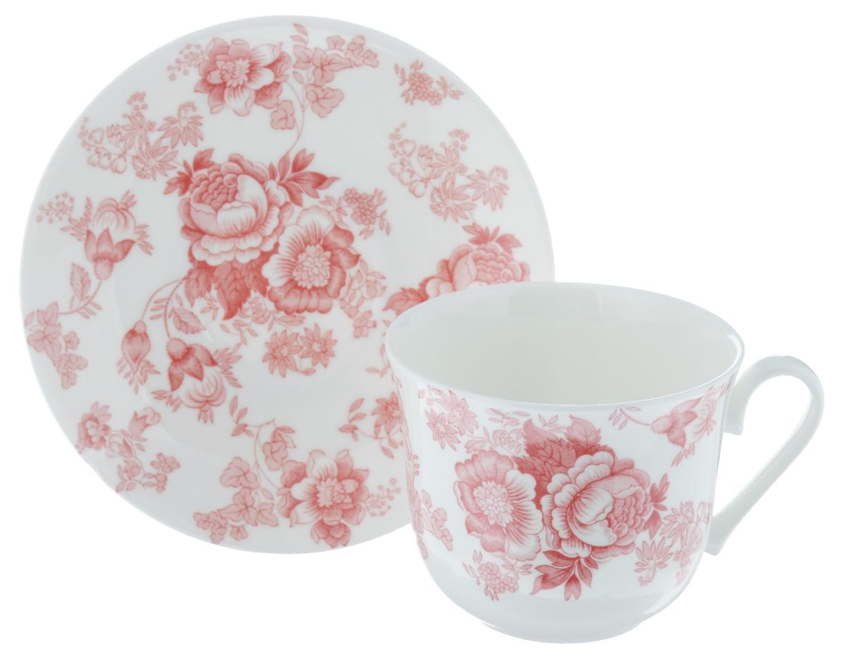 Чайная пара Roy Kirkham Викторианская роза, цвет: розовый, белый, 2 предметаXPIN1100Чайная пара Roy Kirkham Викторианская роза состоит из чашки и блюдца, изготовленных из тонкостенного костяного фарфора высшего качества, отличающегося необыкновенной прочностью и небольшим весом. Изделия оформлены цветочным рисунком. Яркий дизайн, несомненно, придется вам по вкусу. Чайная пара Roy Kirkham Викторианская роза украсит ваш кухонный стол, а также станет замечательным подарком к любому празднику. Объем чашки: 500 мл. Диаметр чашки по верхнему краю: 10,5 см. Высота чашки: 8,5 см. Диаметр блюдца: 17 см. Высота блюдца: 2,5 см.