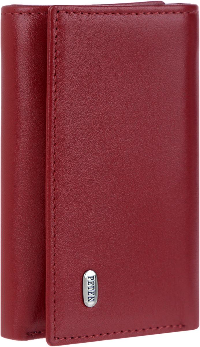 Ключница женская Petek 1855, цвет: бордовый. 509.4000.10
