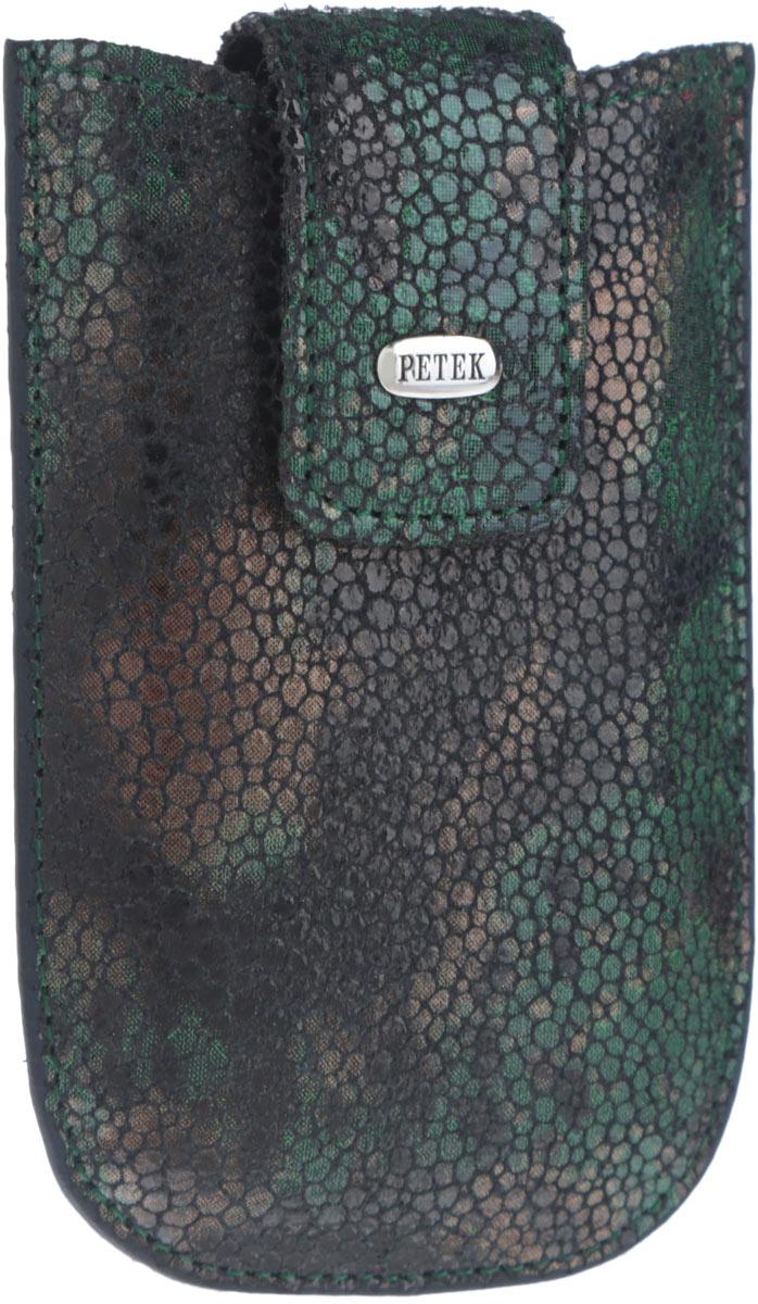 Визитница женская Petek 1855, цвет: черный, темно-зеленый, коричневый. 615.137.09615.137.09 GreenОригинальная женская визитница Petek 1855 выполнена из натуральной с принтом под питона. Изделие оформлено металлической пластиной с гравировкой бренда. Модель закрывается на хлястик с магнитом. Такая визитница станет отличным подарком для человека, ценящего качественные и практичные вещи.