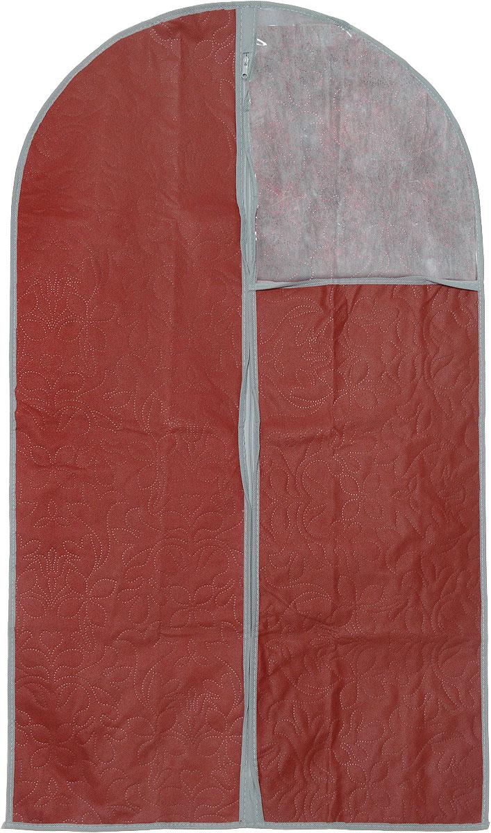 """Чехол для одежды """"Hausmann"""", цвет: темно-красный, 60 см х 100 см"""