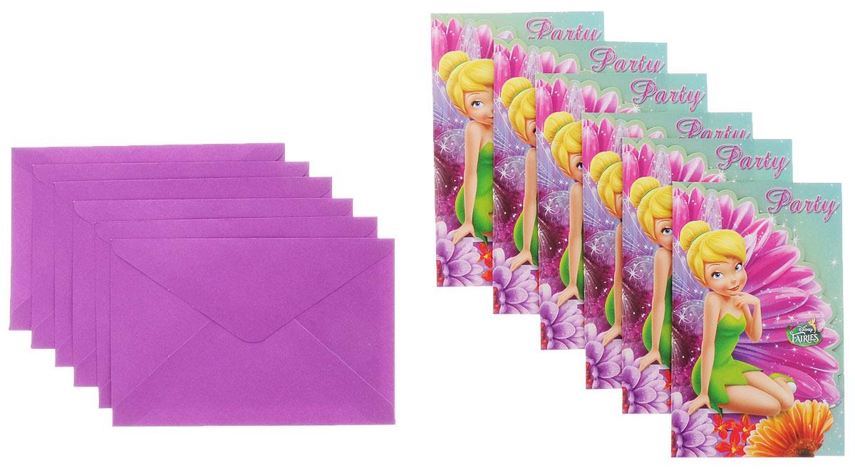 Procos Приглашения в конвертах Волшебные феи 6 шт85248Вечеринка по случаю дня рождения или другой важной даты - это мероприятие, к которому надо подходить со всей серьезностью. Необходимо продумать все до мелочей, вплоть до того, кого и как вы будете приглашать. В этом вам помогут приглашения в конвертах Procos Волшебные феи с изображением милой феи Динь-Динь прекрасных цветов. Яркие приглашения удивят гостей и подарят массу положительных эмоций! Впишите время и место и ждите прихода друзей в назначенный срок. Вручите заполненные приглашения гостю, чтобы он проникся праздничной атмосферой и предвкушал мероприятие еще до его начала. В наборе: 6 приглашений и 6 конвертов.