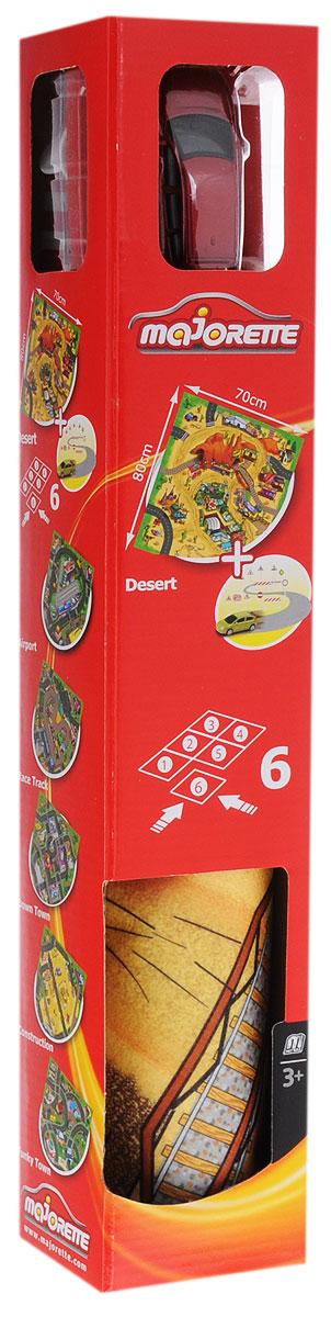 Majorette Игровой набор Desert с машинкой и дорожными знаками