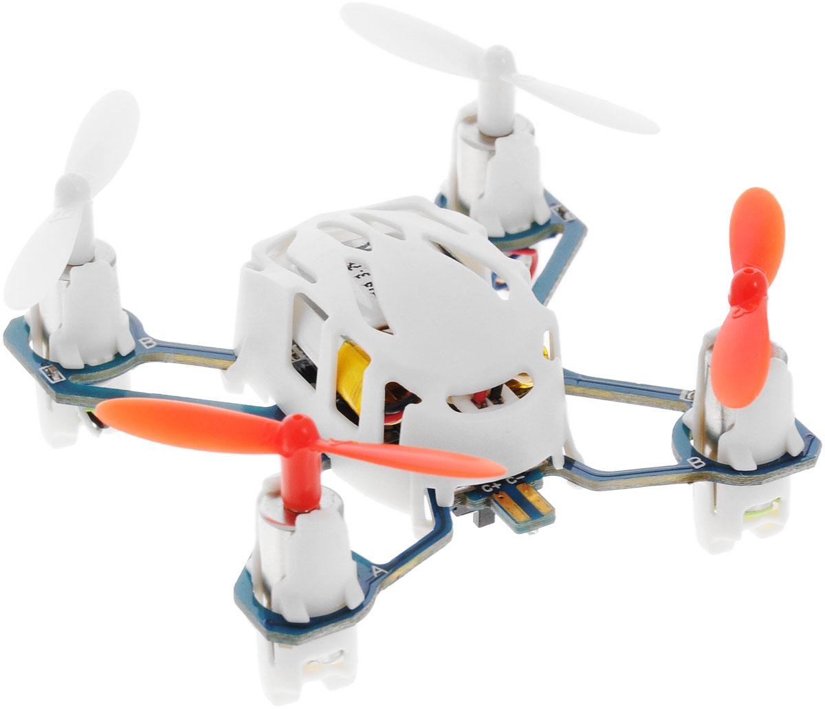 Hubsan Квадрокоптер на радиоуправлении Q4 NanoH111Квадрокоптер на радиоуправлении Hubsan Q4 Nano c инфракрасным управлением подходит для полетов в закрытых помещениях или на улице в безветренную погоду. Управляется игрушка с помощью удобного пульта. Компактная модель оснащена четырьмя яркими винтами, которые поднимают коптер во время полета. Крепкий и прочный корпус защитит мини-дрон от серьезных ударов и повреждений. Благодаря продуманной конструкции, качественным материалам и чрезвычайно небольшому весу, Q4 Nano без повреждений может выдержать падения с небольшой высоты или столкновения с препятствиями. Игрушка развивает многочисленные способности ребенка: мелкую моторику, пространственное мышление, реакцию и логику. Вертолет работает от встроенного аккумулятора, который можно заряжать от USB-шнура (входит в комплект). Для работы пульта управления необходимо докупить 2 батарейки напряжением 1,5V типа ААА (в комплект не входят).