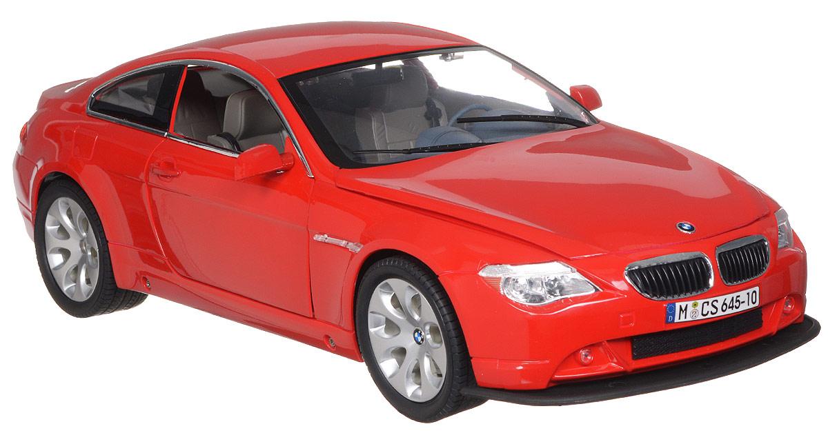 Rastar Радиоуправляемая модель BMW 645Ci цвет красный645-10/14800Радиоуправляемая модель Rastar BMW 645Ci обязательно привлечет внимание взрослого и ребенка и понравится любому, кто увлекается автомобилями. Все дети хотят иметь в наборе своих игрушек ослепительные, невероятные и крутые автомобили на радиоуправлении. Тем более если это автомобиль известной марки с проработкой всех деталей, удивляющий приятным качеством и видом. Маневренная и реалистичная уменьшенная копия BMW 645Ci выполнена в точной детализации с настоящим автомобилем в масштабе 1:10. Управление машинкой происходит с помощью пульта. Автомобиль двигается вперед и назад, поворачивает направо и налево. У модели открываются двери, капот и багажник. Автомобиль изготовлен из пластика с металлическими деталями. Колеса игрушки прорезинены и обеспечивают плавный ход, машинка не портит напольное покрытие. Радиоуправляемые игрушки способствуют развитию координации движений, моторики и ловкости. Ваш ребенок часами будет играть с моделью, придумывая различные истории и...