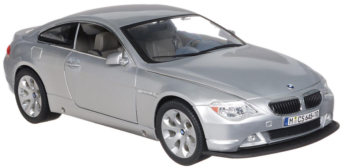 Rastar Радиоуправляемая модель BMW 645Ci цвет серый14800Радиоуправляемая модель Rastar BMW 645Ci обязательно привлечет внимание взрослого и ребенка и понравится любому, кто увлекается автомобилями. Все дети хотят иметь в наборе своих игрушек ослепительные, невероятные и крутые автомобили на радиоуправлении. Тем более если это автомобиль известной марки с проработкой всех деталей, удивляющий приятным качеством и видом. Маневренная и реалистичная уменьшенная копия BMW 645Ci выполнена в точной детализации с настоящим автомобилем в масштабе 1:10. Управление машинкой происходит с помощью пульта. Автомобиль двигается вперед и назад, поворачивает направо и налево. У модели открываются двери, капот и багажник. Автомобиль изготовлен из пластика с металлическими деталями. Колеса игрушки прорезинены и обеспечивают плавный ход, машинка не портит напольное покрытие. Радиоуправляемые игрушки способствуют развитию координации движений, моторики и ловкости. Ваш ребенок часами будет играть с моделью, придумывая различные истории и...