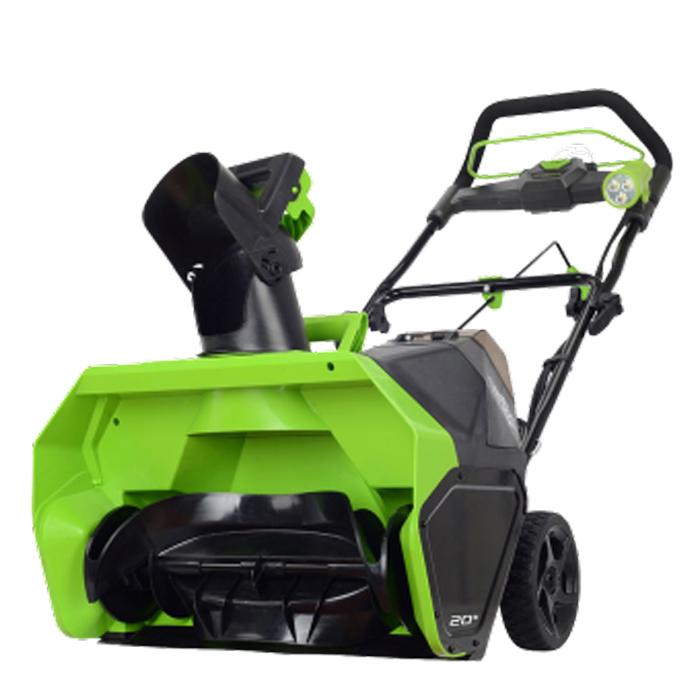 Снегоуборщик аккумуляторный Greenworks G-MAX 40V 51 см DigiPro (комплект)2600607Номинальное напряжение(акк) - 40 вольт Рабочая ширина 50,8 см Рабочая глубина 25,4 Гарантируемый предельный уровень звуковой мощности - 96 децибел Дальность выброса 5,5 метров тип двигателя - бесщеточный
