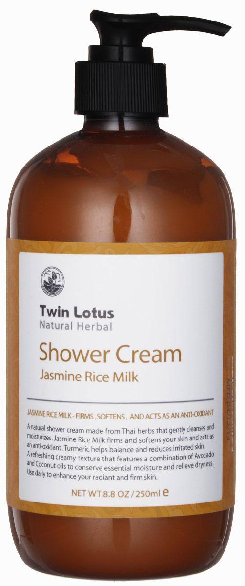 Twin Lotus Гель для душа Jasmine (Жасмин и рисовое молоко), 250мл.0175Создан с использованием тайских трав для бережного очищения и увлажнения кожи • Экстракт жасмина и рисового молока укрепляет и смягчает кожу, служит натуральным антиоксидантом • Куркума поддерживает натуральный баланс кожи и уменьшает раздражение • Освежающая кремовая текстура была получена благодаря использованию экстракта авокадо и кокосового масла, которые увлажняют и устраняют ее сухость
